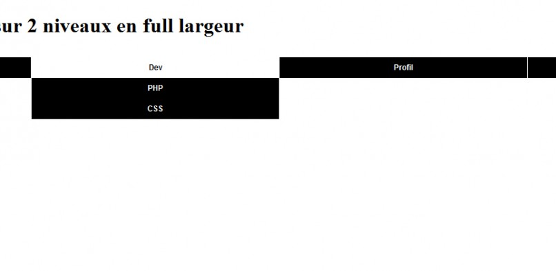 Un menu horizontal « full largeur » en CSS
